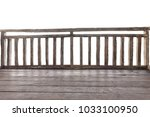 balcony at resort and wood... | Shutterstock . vector #1033100950