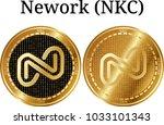 set of physical golden coin...   Shutterstock .eps vector #1033101343
