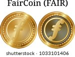 set of physical golden coin...   Shutterstock .eps vector #1033101406