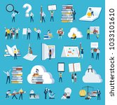 set of flat design style people ... | Shutterstock .eps vector #1033101610