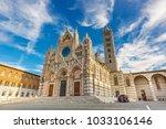 siena cathedral  duomo di siena ... | Shutterstock . vector #1033106146