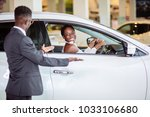 young african woman surprised... | Shutterstock . vector #1033106680