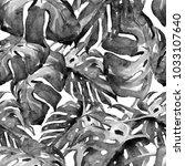 liana pattern watercolor... | Shutterstock . vector #1033107640