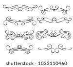 set of decorative flourish...   Shutterstock .eps vector #1033110460