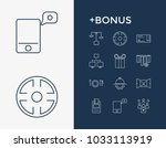 commercial icon set and voucher ...