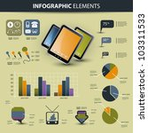 vector set of infographic... | Shutterstock .eps vector #103311533