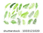 set of elements logo of palm... | Shutterstock .eps vector #1033121020
