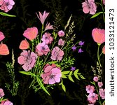 seamless floral background.... | Shutterstock .eps vector #1033121473