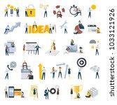 flat design people concept... | Shutterstock .eps vector #1033121926