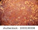 texture of rusty metal on... | Shutterstock . vector #1033130338