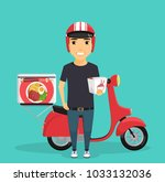 fast delivery of japanese... | Shutterstock .eps vector #1033132036