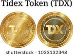 set of physical golden coin...   Shutterstock .eps vector #1033132348