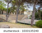 the ancient greek theater on... | Shutterstock . vector #1033135240