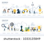 set of flat design web banners... | Shutterstock .eps vector #1033135849