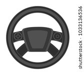 steering wheel single icon in... | Shutterstock . vector #1033136536