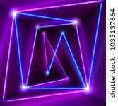 abstract purple room interior... | Shutterstock .eps vector #1033137664