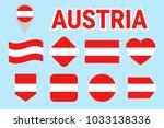 austria flag collection. vector ...   Shutterstock .eps vector #1033138336