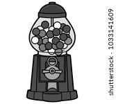 gumball machine illustration  ...   Shutterstock .eps vector #1033141609