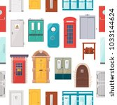 doors vector set house doorway... | Shutterstock .eps vector #1033144624