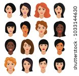 woman portrait vector female... | Shutterstock .eps vector #1033144630