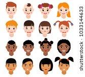 childs portrait vector kids... | Shutterstock .eps vector #1033144633