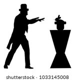 magician performing trick with... | Shutterstock .eps vector #1033145008