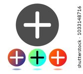 plus icon vector. add vector... | Shutterstock .eps vector #1033148716