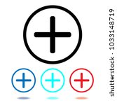 plus icon vector. add sign ...   Shutterstock .eps vector #1033148719