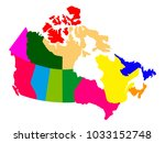 political map of canada | Shutterstock .eps vector #1033152748