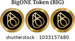 set of physical golden coin...   Shutterstock .eps vector #1033157680