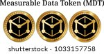 set of physical golden coin...   Shutterstock .eps vector #1033157758