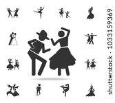 dancing couple icon. set of... | Shutterstock .eps vector #1033159369