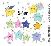 star collection. pack of stars. ... | Shutterstock .eps vector #1033161970