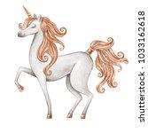 watercolor unicorn illustration ... | Shutterstock . vector #1033162618