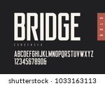 condensed bold retro sans serif.... | Shutterstock .eps vector #1033163113