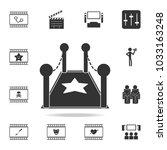 star track icon. set of cinema  ... | Shutterstock .eps vector #1033163248