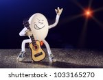 Funny Egg Rocker Guitarist...