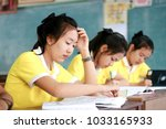 phatthalung  thailand february...   Shutterstock . vector #1033165933
