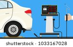 vehicle emission testing car... | Shutterstock .eps vector #1033167028
