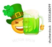 Patrick Emoji With Green Beer....