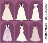 wedding bride dress elegance... | Shutterstock .eps vector #1033169059