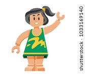 doll toy character game dress... | Shutterstock .eps vector #1033169140