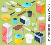 kitchenware vector household... | Shutterstock .eps vector #1033169149