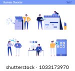 office concept business people... | Shutterstock .eps vector #1033173970
