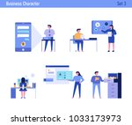 office concept business people... | Shutterstock .eps vector #1033173973