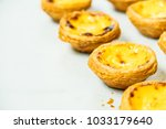 sweet dessert with tart egg and ... | Shutterstock . vector #1033179640