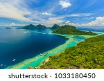 scenic panoramic top view of... | Shutterstock . vector #1033180450