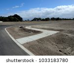 streets ready in new estate... | Shutterstock . vector #1033183780