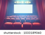 empty theater auditorium with... | Shutterstock . vector #1033189060