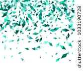 confetti of two colored rhombs... | Shutterstock .eps vector #1033190728
